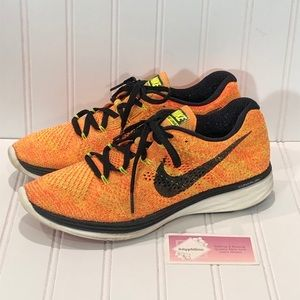 Nike Flyknit Lunar 3 Athletic Shoes Orange